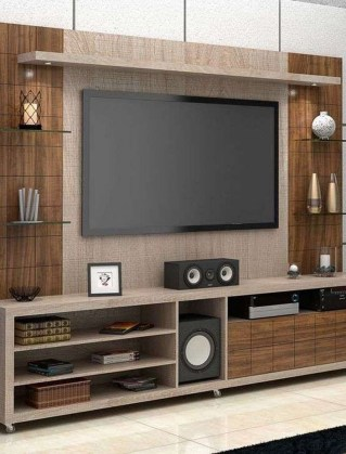 Enjoying Bedroom Design Ideas With Wall Tv To Try 34