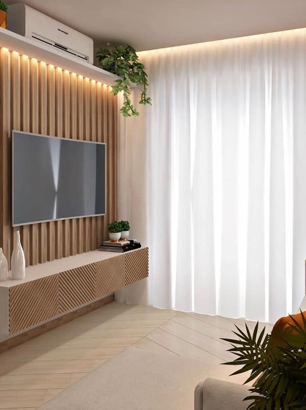 Enjoying Bedroom Design Ideas With Wall Tv To Try 35