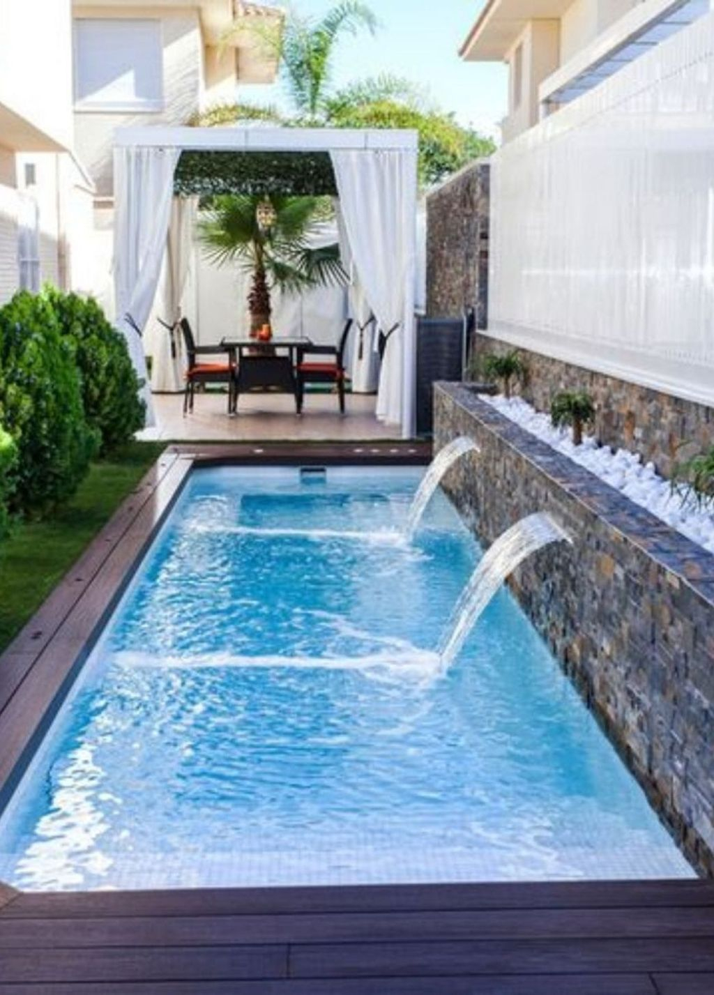 Flawless Small Pool Landscaping Design Ideas For Enchanting Home Outside 16