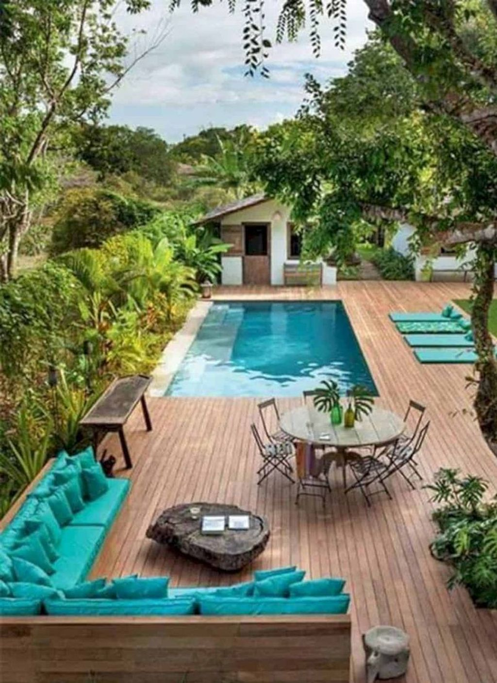 Flawless Small Pool Landscaping Design Ideas For Enchanting Home Outside 34