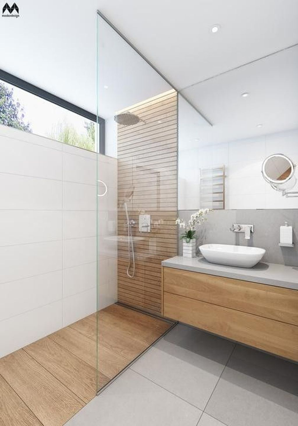 Marvelous Wooden Shower Floor Tiles Designs Ideas For Bathroom Remodel 05