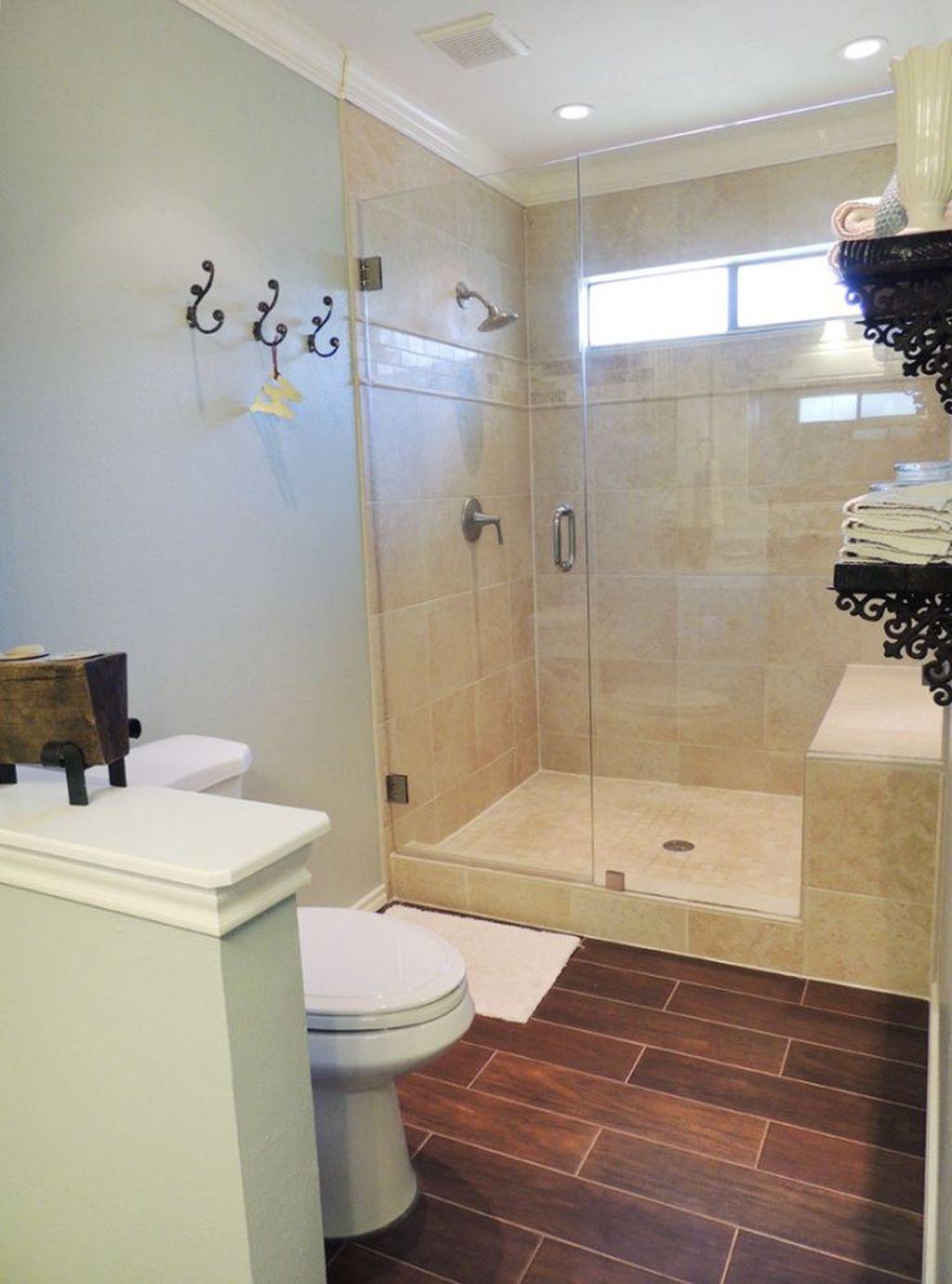 Marvelous Wooden Shower Floor Tiles Designs Ideas For Bathroom Remodel 16