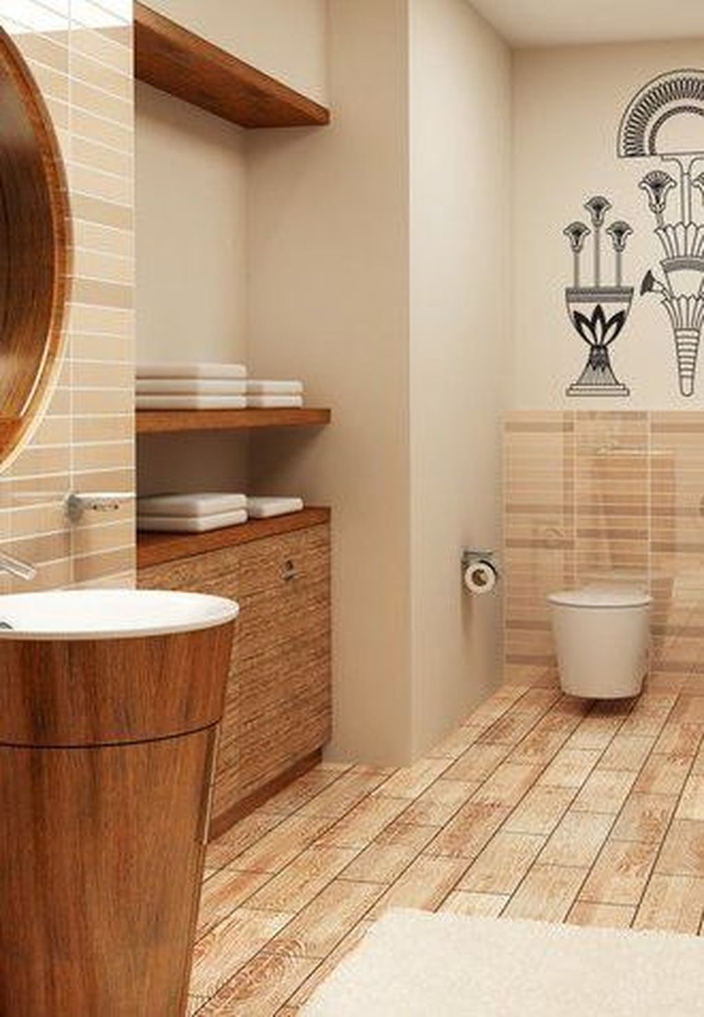 Marvelous Wooden Shower Floor Tiles Designs Ideas For Bathroom Remodel 33