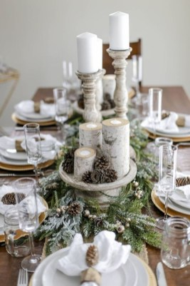 Pretty Winter Table Decoration Ideas For A Romantic Dinner 16
