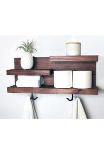 Amazing Bathroom Shelf Ideas With Industrial Farmhouse Towel Bar Tips For Buying It 07