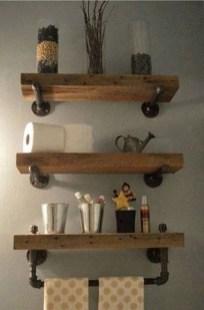 Amazing Bathroom Shelf Ideas With Industrial Farmhouse Towel Bar Tips For Buying It 32