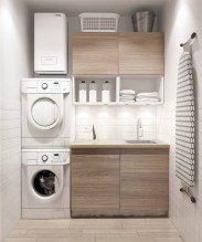 Best Small Functional Laundry Room Decoration Ideas That Looks Cool 16
