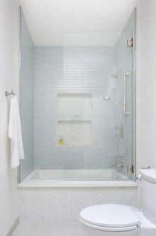 Chic Blue Shower Tile Design Ideas For Your Bathroom 03