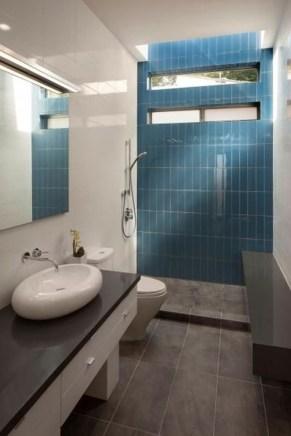 Chic Blue Shower Tile Design Ideas For Your Bathroom 15