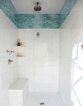 Chic Blue Shower Tile Design Ideas For Your Bathroom 19