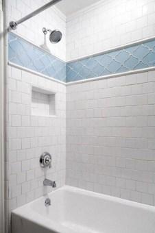 Chic Blue Shower Tile Design Ideas For Your Bathroom 21