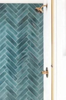 Chic Blue Shower Tile Design Ideas For Your Bathroom 22