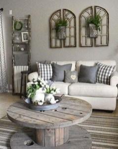 Comfy Farmhouse Living Room Decor Ideas To Copy Asap 04