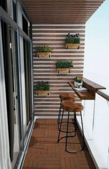 Enchanting Balcony Decoration Ideas For Apartment For A Cleaner Look 05
