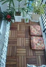 Enchanting Balcony Decoration Ideas For Apartment For A Cleaner Look 22