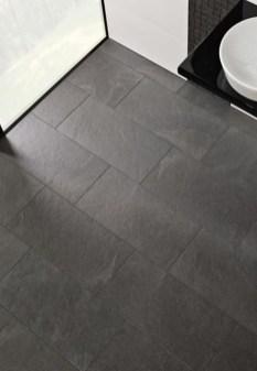 Fantastic Black Floor Tiles Design Ideas For Modern Bathroom 18