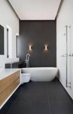 Fantastic Black Floor Tiles Design Ideas For Modern Bathroom 21