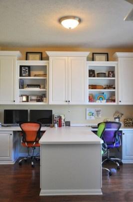 Popular Home Office Cabinet Design Ideas For Easy Organization Storage 07