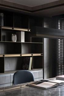Popular Home Office Cabinet Design Ideas For Easy Organization Storage 21