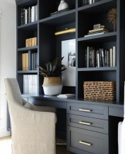 Popular Home Office Cabinet Design Ideas For Easy Organization Storage 22