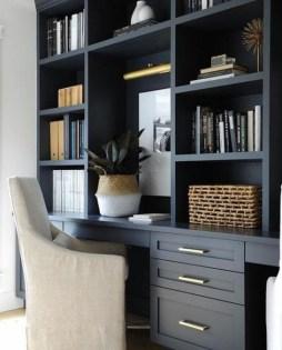 Popular Home Office Cabinet Design Ideas For Easy Organization Storage 22