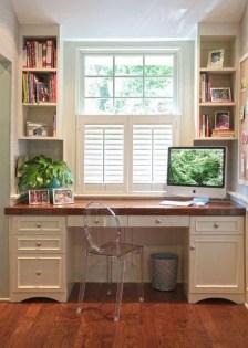 Popular Home Office Cabinet Design Ideas For Easy Organization Storage 23