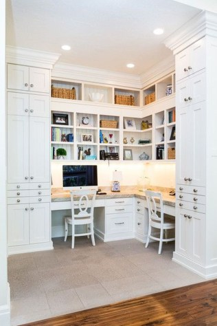 Popular Home Office Cabinet Design Ideas For Easy Organization Storage 35