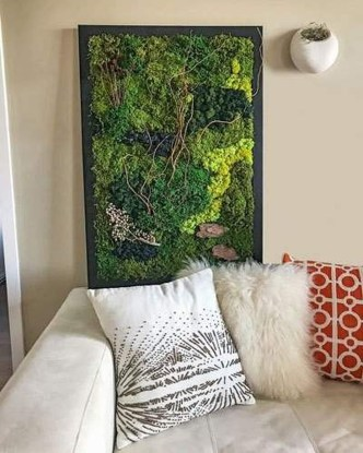 Delicate Natural Moss Wall Art Decorations Ideas To Try Right Now 09