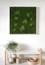 Delicate Natural Moss Wall Art Decorations Ideas To Try Right Now 27