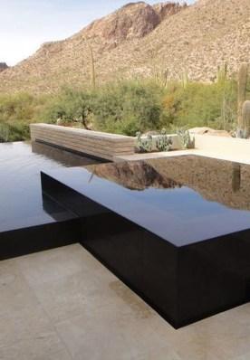 Elegant Black Swimming Pool Design Ideas That All Men Must Know 08