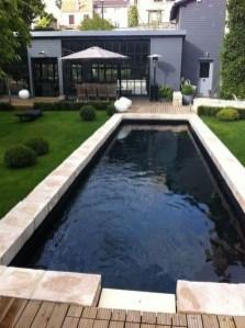 Elegant Black Swimming Pool Design Ideas That All Men Must Know 10