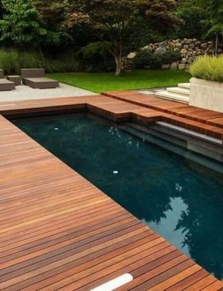 Elegant Black Swimming Pool Design Ideas That All Men Must Know 12