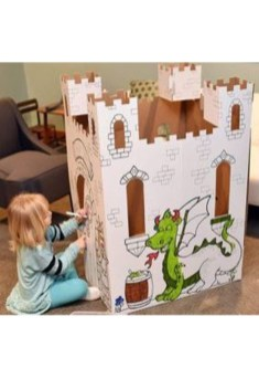 Enchanting Cardboard Playhouse Design Ideas For Kids That You Will Love It 12