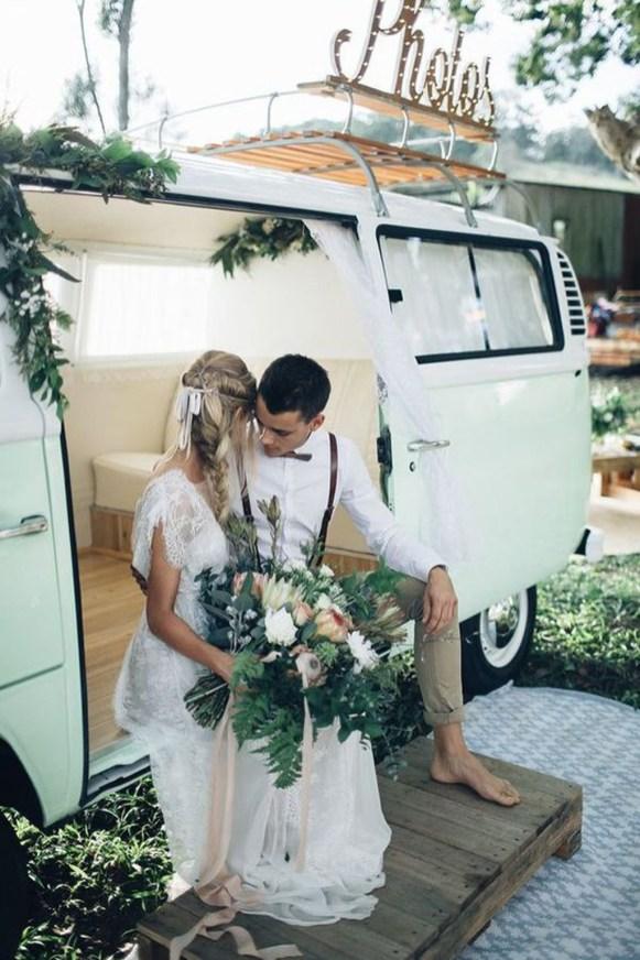 Gorgeous Wedding Theme Ideas With Vw Car Party To Have Right Now 34