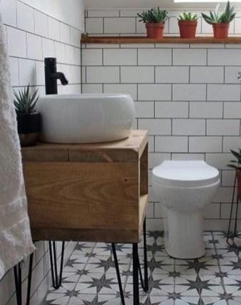 Modern Bathroom Design Ideas With Exposed Brick Tiles 13