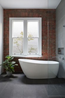 Modern Bathroom Design Ideas With Exposed Brick Tiles 29