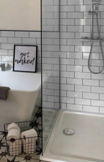 Modern Bathroom Design Ideas With Exposed Brick Tiles 32