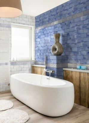 Modern Bathroom Design Ideas With Exposed Brick Tiles 34