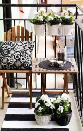 Relaxing Tiny Balcony Decor Ideas To Try This Month 26