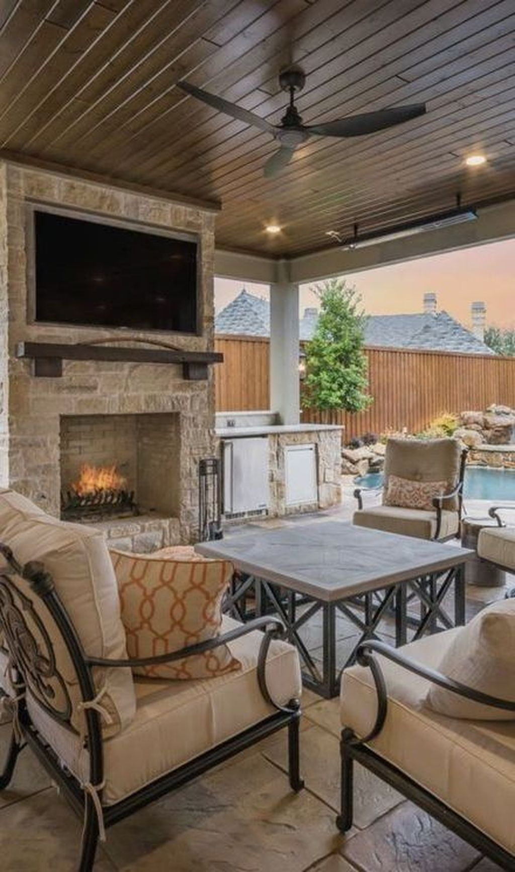 Unordinary Outdoor Living Room Design Ideas To Have Asap 14
