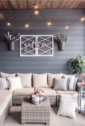 Unordinary Outdoor Living Room Design Ideas To Have Asap 27