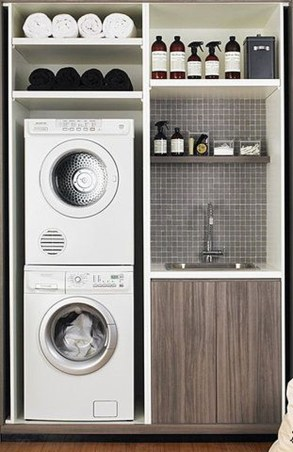 Unusual Laundry Arranging Design Ideas For Small Space To Try 12