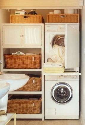 Unusual Laundry Arranging Design Ideas For Small Space To Try 24