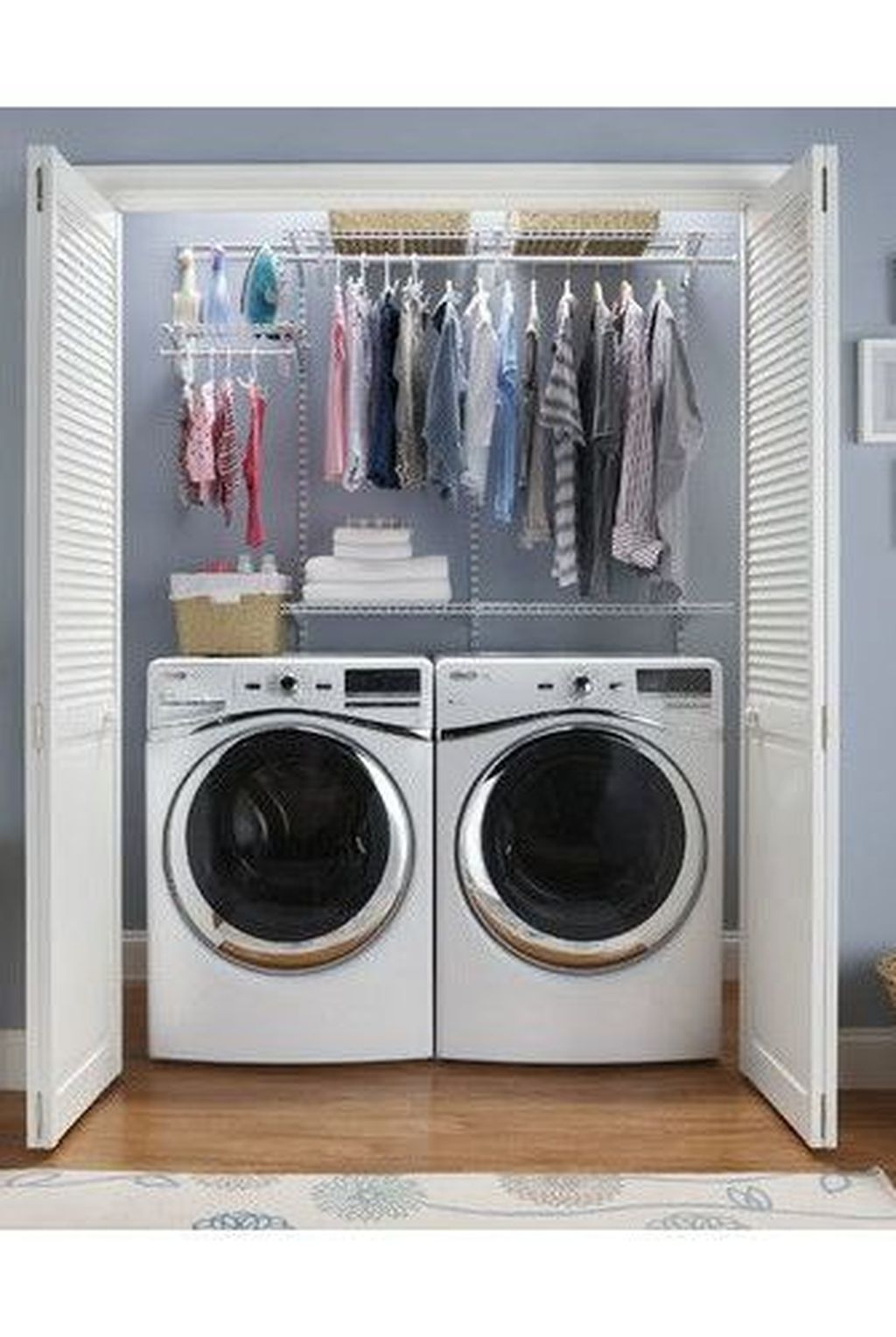Unusual Laundry Arranging Design Ideas For Small Space To Try 38
