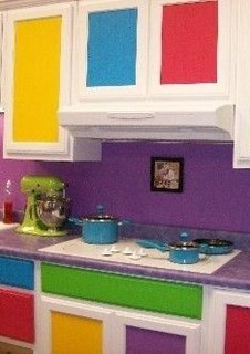 Adorable Rainbow Colorful Kitchens Design Ideas To Looks More Awesome 13