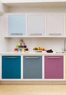Adorable Rainbow Colorful Kitchens Design Ideas To Looks More Awesome 21