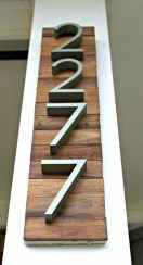 Cool Diy House Number Projects Design Ideas That Looks More Elegant 04