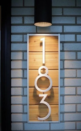 Cool Diy House Number Projects Design Ideas That Looks More Elegant 09