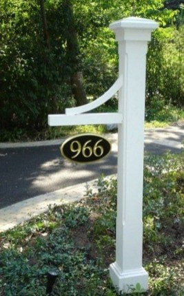 Cool Diy House Number Projects Design Ideas That Looks More Elegant 16