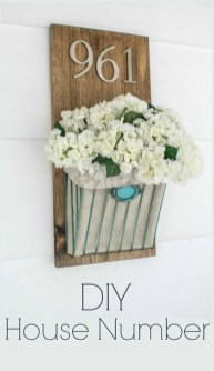 Cool Diy House Number Projects Design Ideas That Looks More Elegant 19